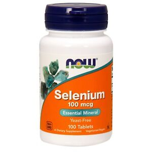 NOW Foods Selenium, 100 mcg, 100 Tablets