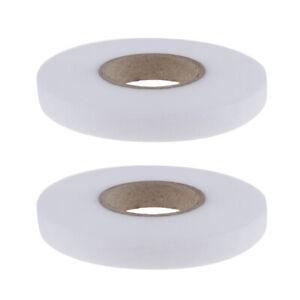 2-rouleaux-de-tissu-thermocollant-ruban-de-fusion-bande-Web-bande-d-039-ourlet