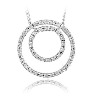 925-Sterling-Silver-1-8ct-Diamond-Double-Circle-Necklace-IJ-I3