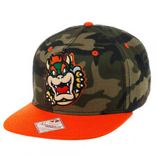 Nintendo BOWSER SNAPBACK HAT - Super Mario Wiiu Era Men's Camo Baseball Cap NEW