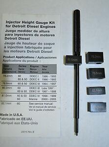 Detroit Diesel Series 60 >> Injector Height Gauge for Detroit Diesel Engines Made in ...