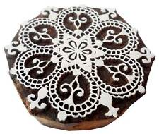 Rangoli Design wooden block stamp Tattoo Handcarved in India Textile Printing