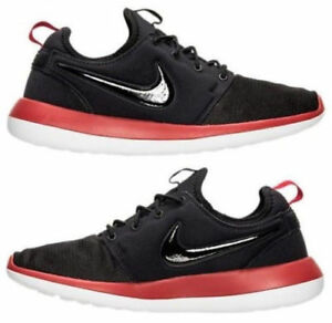 9e040229df2d MENS NIKE ROSHE TWO TRAINERS BLACK RED WHITE SHOES 844656 005 size ...