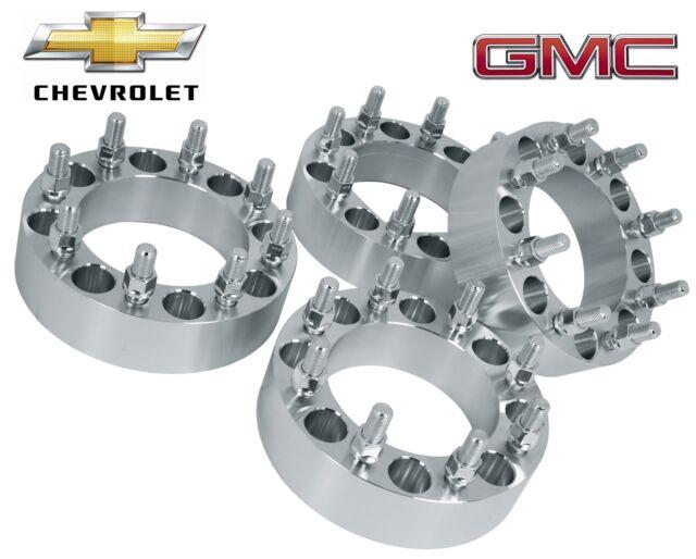"4 Pc Chevrolet Silverado 2500 hd 3500 hd 8 Lug Duramax Diesel |2""| Wheel Spacers"