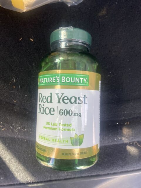 Nature's Bounty Red Yeast Rice 600mg 250 Capsules Exp 09/20+ Herbal Supplement