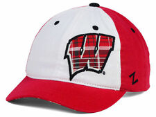 Wisconsin Badgers Womens Zephyr Ncaa Red White Plaid Adjustable Hat Cap Osfm