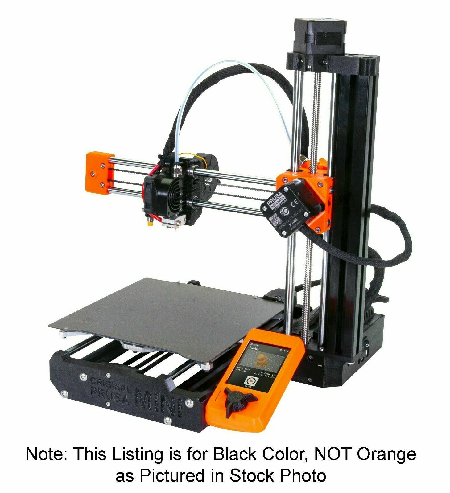 Prusa MINI+ KIT w/ Filament Sensor & PEI Sheet Black New in Box 3D Printer