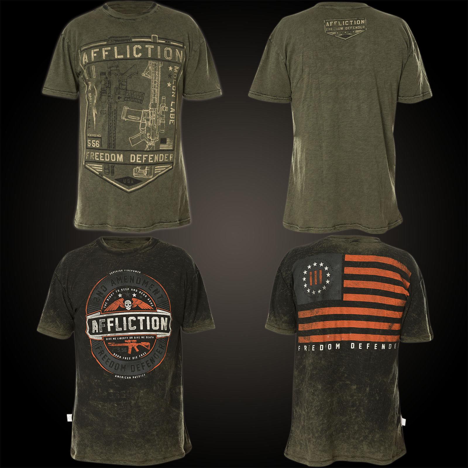 AFFLICTION T-Shirt Liberty Rev. Grün T-Shirts