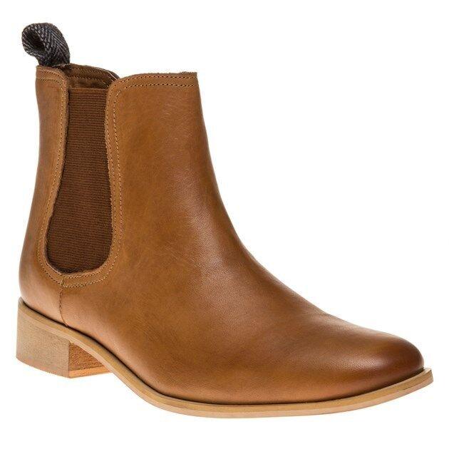New femmes Ravel Tan Camden Leather bottes Ankle Elasticated Pull On