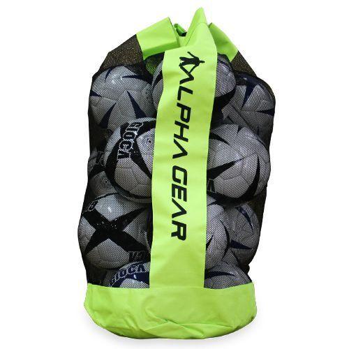 2 x ALPHA Gear Quality Ball Bag w Carry Strap Fit 12 x Full Size Soccer Balls