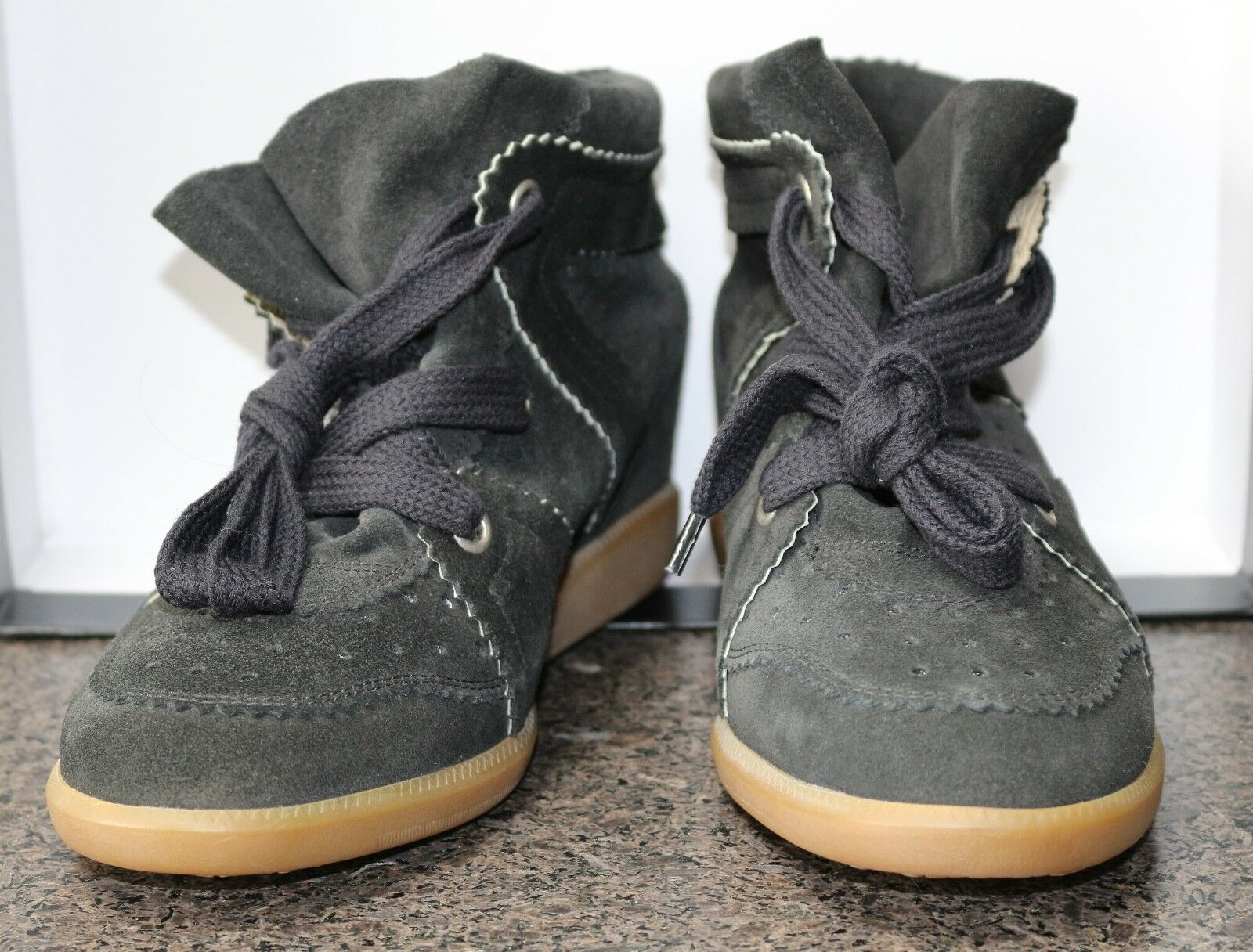 NEW donna ISABEL MARANT BLK SUEDE HIGH TOP WEDGE WEDGE WEDGE FASHION scarpe da ginnastica scarpe 39 04a08f