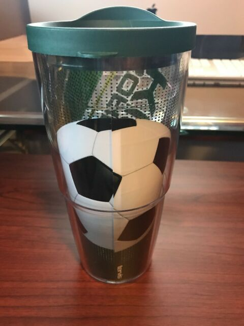 Clear Tervis 1284664 Born to Kick Tumbler with Wrap and Hunter Green Lid 24oz