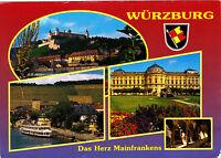 Würzburg , Das Herz Mainfrankens ; Ansichtskarte  gel.