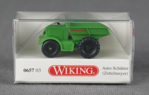 Auto-Schütter H0, 1:87 NEU! grün Zettelmeyer WIKING 065703//0657 03