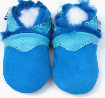 Soft Sole Leather Baby Infant Kid Boy Girl Gift Crib Shoes kids SheepSkin 12-18M