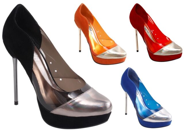NEW SEXY Women's Thin High Heel Pointy Cap Toe See Through Pumps Four Colors