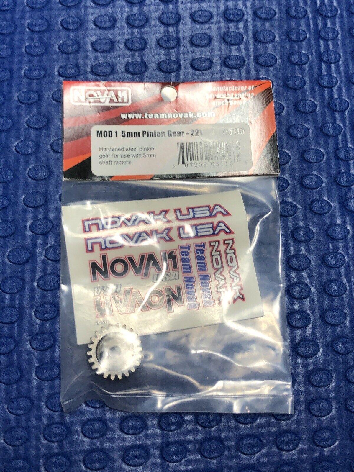 3-Pack 17T Novak 5mm Bore Mod 1 Hardened Steel Pinion Gears