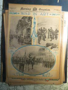 War Art History Newspaper 1914 WAR IN ART GOODBY SWEETHEART by DE NEUVILLE