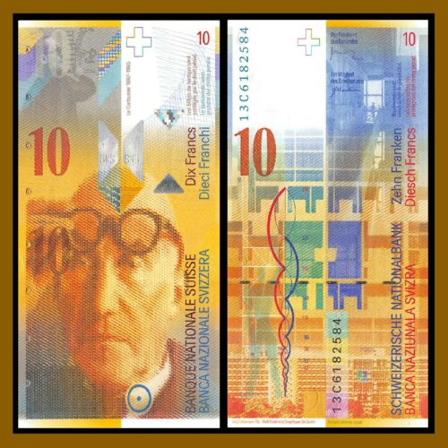 2013 P-67e Swiss National Bank Unc Switzerland 10 Francs