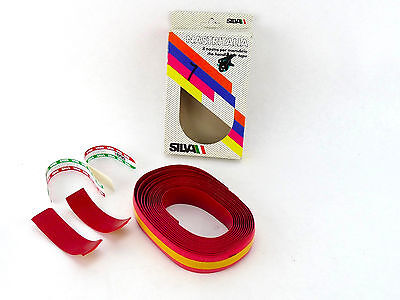 NOS Silva handlebar tape nastro manubrio Raleigh ti plugs vintage New Lenkerband