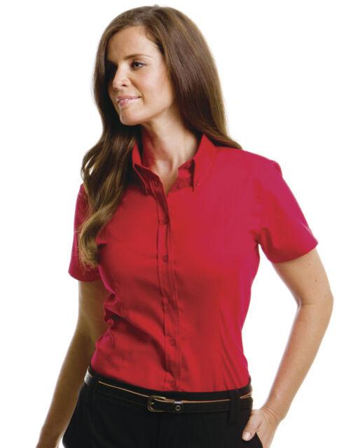 Womens Kustom Kit Shirt-Corporate Short Sleeve, Oxford Shirt