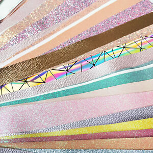 1KG-Roll-Bundle-Glitter-Vinyl-Fabric-Faux-Leather-Offcut-Scraps-Mix-Random-Bows