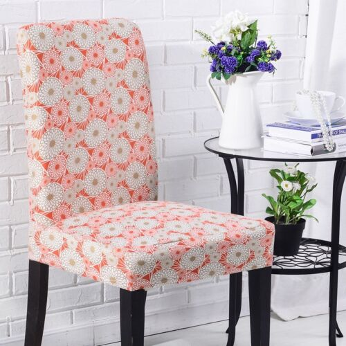 Easy Fit Stretch Washale Removable Dining Room Wedding Banquet Chair Seat Cover