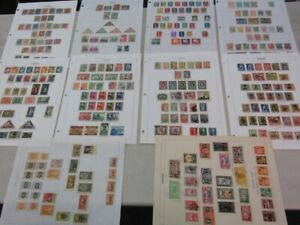 Nystamps Russia Estonia Lithuania old stamp collection Album page