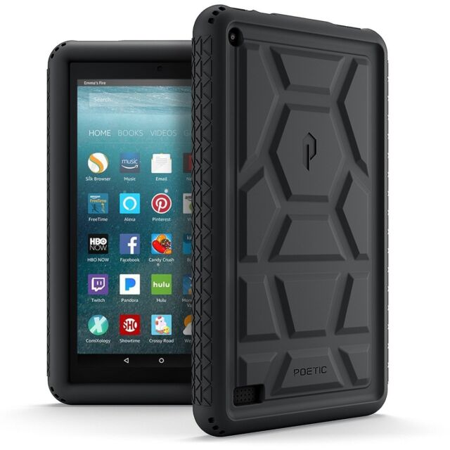 Poetic Turtleskin Fire 7 2017 Rugged Case With Portable Tablet Stand Heavy Duty