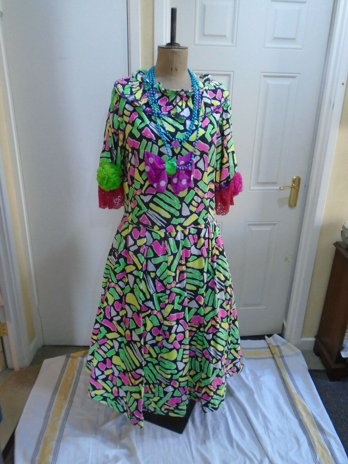 DAMES worker dress multi coloured 49 inch bust used