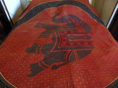 ,2m,30x2,15beau Tissus Mural Ou Jeté De Lit ,,canapé L éléphant ,style Batik