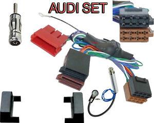 Radio-Blende-Aktiv-System-Radio-Adapter-fuer-Audi-A4-B5-inkl-Phantomeinspeisung
