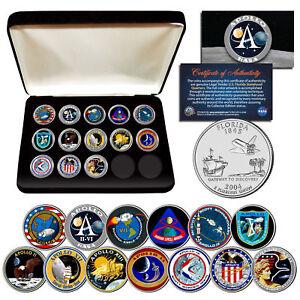 APOLLO-SPACE-MISSIONS-U-S-Quarters-13-Coin-Complete-Set-NASA-PROGRAM-with-Box
