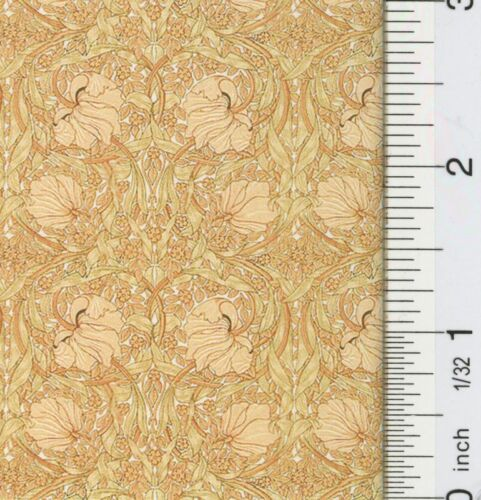 Dollhouse Victorian Tulips Yellow Wallpaper