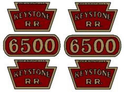 R KEYSTONE R 6500 FREIGHT CAR DECAL SET