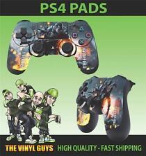PS4 PLAYSTATION 4 CONTROLLER PAD STICKER BATTLEFIELD 4 WAR ARMY BATTLE SKINS X 2