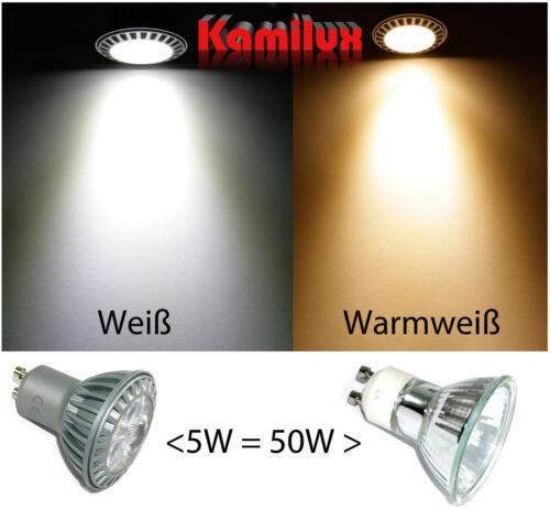 LED Downlights Einbau Quajo 5W=50W Einbaustrahler 230V GU10 Hochvolt ECKIG