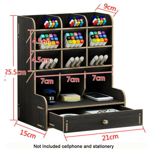 Office Case Stationary Storage Box Desk Organizer Container Pen Pencil Holder