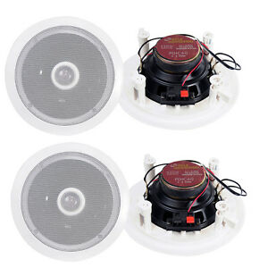 4-New-Pyle-6-5-034-500W-2-Way-Round-In-Wall-Ceiling-Home-Speakers-System-Audio