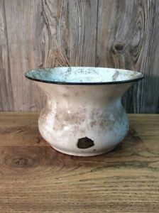 Antique-Enameled-Porcelain-Spittoon-Cuspidor-From-Local-Bank-History-K52B