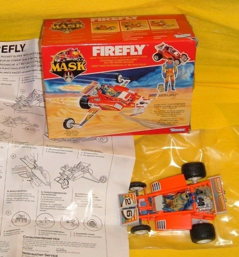 Maske m.a.s.k firefly - kenner jeep, jahrgang 'wbox julio lopez abbildung gift gespielt.