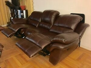 Details about Luxury Traditional Living Room Brown Bonded Leather Sofa  Couch SET 2PCS