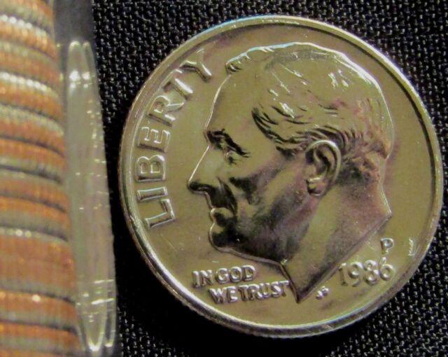 1986 P/&D Roosevelt Dimes