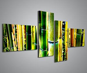 Quadro moderno bambu detail quadri moderni 160x70 cm for Stampe arredo