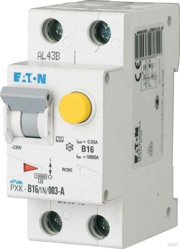 Eaton 30mA PXK-B16//1N//003-A Möller FI//LS-Kombischalter B 16A 1p+N