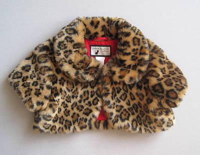 Janie and Jack LEOPARD CHIC Girls 6 Yrs Leopard Print Faux Fur Shrug EUC