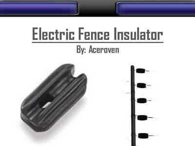 Pack of 50 corner electric fence insulator