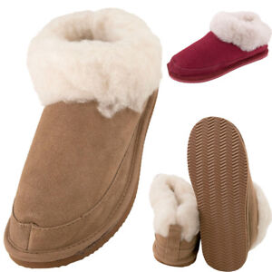 c2bf15fa9a0b9 Image is loading Ladies-Super-Soft-Genuine-Fluffy-Lambswool-Mix-Bootie-