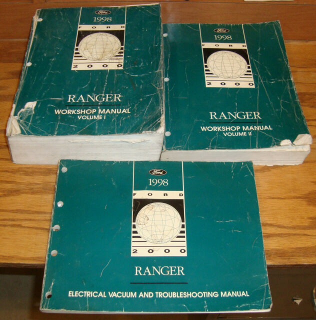 1998 Ford Ranger Truck Shop Service Manual 1 2   Evtm Wiring Diagrams Set 98