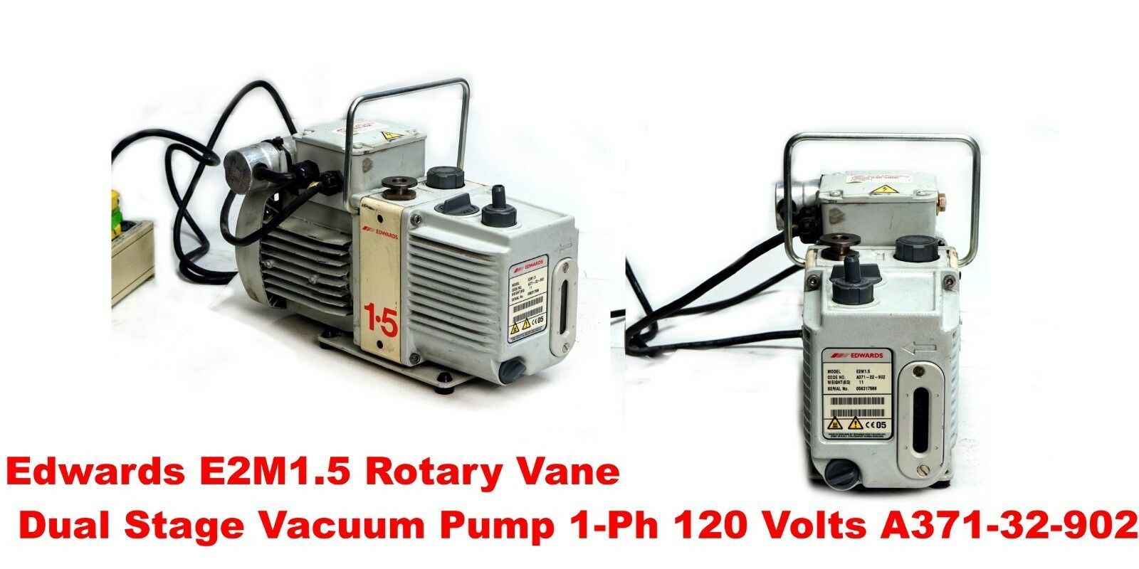 Edwards E2M1.5, Rotary Vane Dual Stage Vacuum Pump